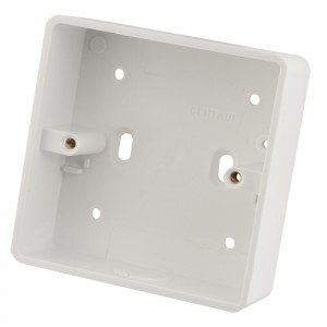 32mm 1 Gang PVC Surface Mounting Pattress Boxes Pack of 20